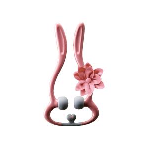 Lourdes兔子頸部按摩器-玫瑰